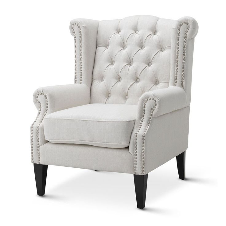 Royale Wingback Arm Chair White