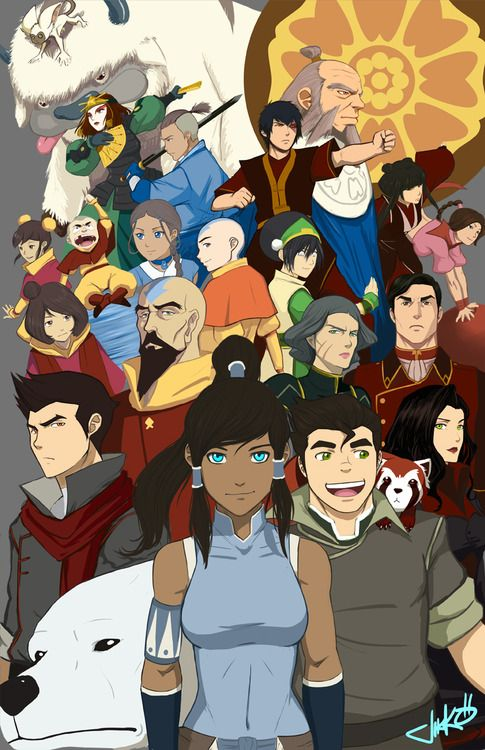 Avatar the Last Airbender and Legend of Korra - sigh, I miss the old team!  and strangely enough, I think i miss appa the most.  :(