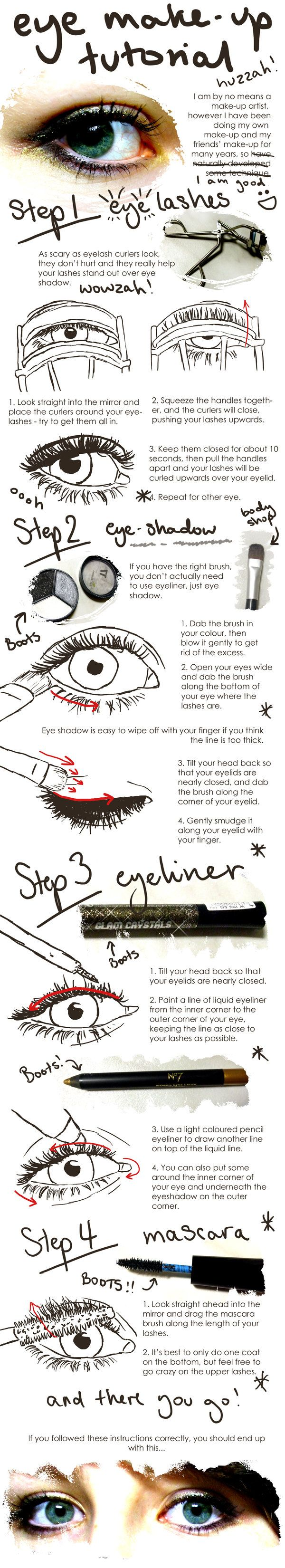 Eye Make-Up Tutorial by ~lemonfox2002 on deviantART