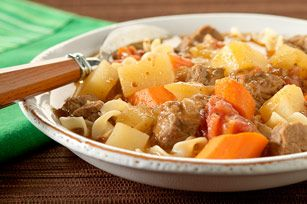 Irish Beef Stew recipe - not quite sure WHY it's Irish (other than it has potatoes in it) but it was gosh darn good and I got only 6 PointsPlus per serving (serving 6, but I think I can stretch it to 7 or 8 servings for less points).