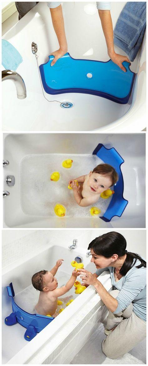 BabyDam Bathtub Divider turns your family bathtub …
