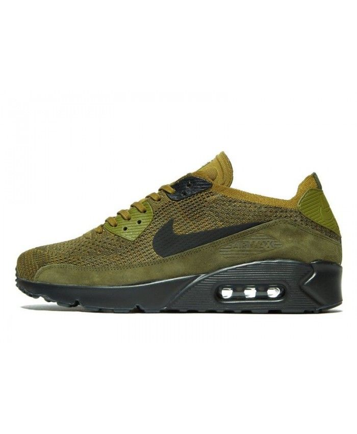 3093826e70 2019 的 Men's Nike Air Max 90 Ultra 2.0 Flyknit Green Sneakers ...