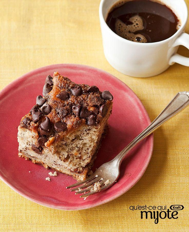 Gâteau danois choco-banane #recette