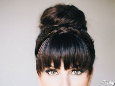 Love this hair do'! Blunt bangs with a high bun. Visit Walgreens.com for great hair products and accessories