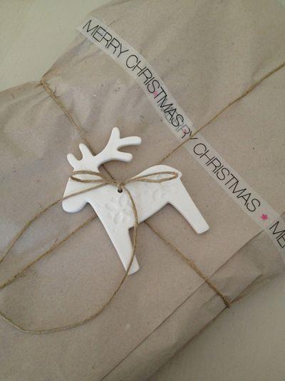 Deer details gift wrap ♥