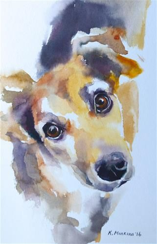 "Daily+Paintworks+-+""adopt166""+-+Original+Fine+Art+for+Sale+-+©+Katya+Minkina"