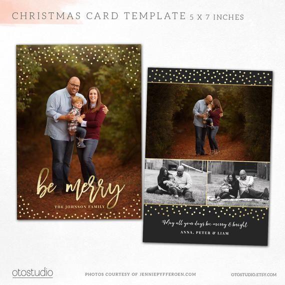 Christmas Card Template Be Merry Christmas Photo Card Photoshop Template 5x7 Ps Merry Christmas Card Photo Christmas Card Photoshop Christmas Card Template