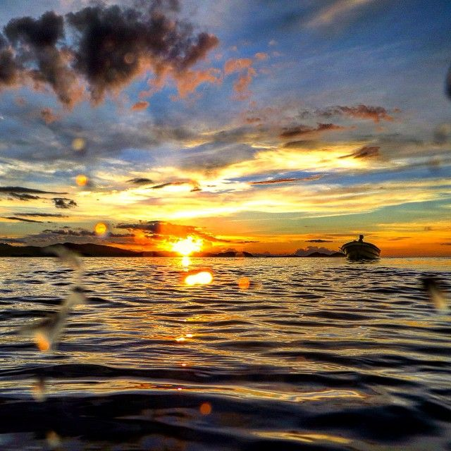 Sunset dives off of our liveaboard, Ikan Biru.