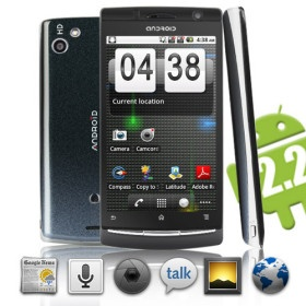 Cylon – Android 2.2 WiFi Smartphone with 4.1 Inch Touchscreen (Dual SIM,WiFi)   154.99 USD   Whole Sale