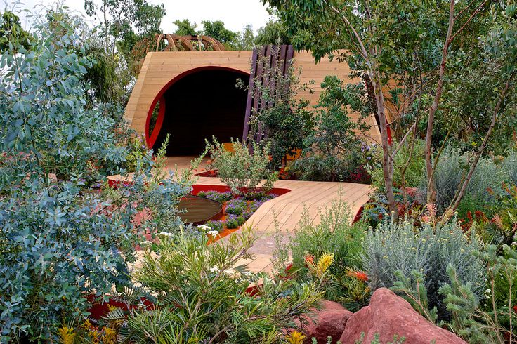The Essence of Australia show garden at the RHS Hampton Court Palace Flower Show 2014 / Jim Fogarty