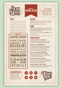 graphic designers resume skill box - Graphic Design Resumes