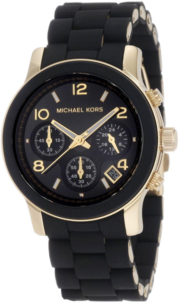 MICHAEL KORS MK5191 - Reloj analógico de cuarzo para mujer con correa de acero inoxidable, color negro