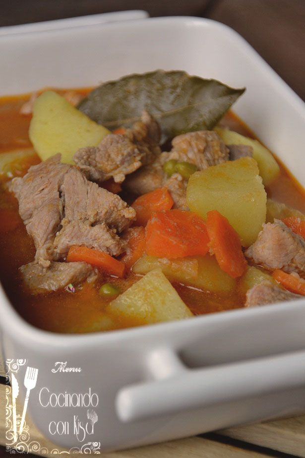 Cocinando con kisa guiso de carne de cerdo con patatas - Guiso de carne de cerdo ...