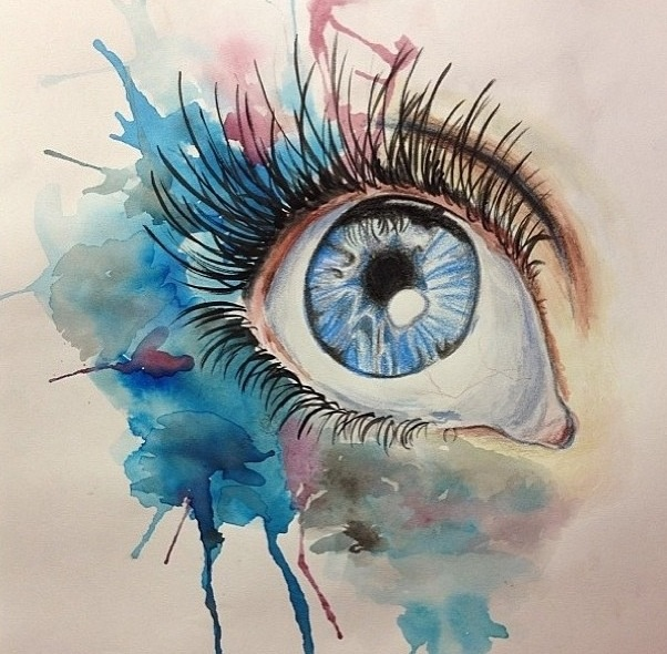 Beautiful watercolor eye products i love pinterest for Beautiful sketch paintings