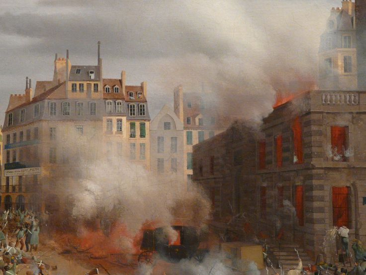 "HAGNAUER Eugène,1848 - Incendie du Château d'Eau, Place du Palais-Royal, le 24 février (Carnavalet) - Détail 04  -  TAGS / painter peintre details detail détails detalles painting paintings peinture ""peinture 19e"" ""19th-century paintings"" ""French paintings"" ""peinture française"" ""French painters"" ""peintres français"" tableaux Museum Paris France fire blaze death drame drama tragedy man men combat fight battle diligence coach town ville city Louis-Philippe abdication"