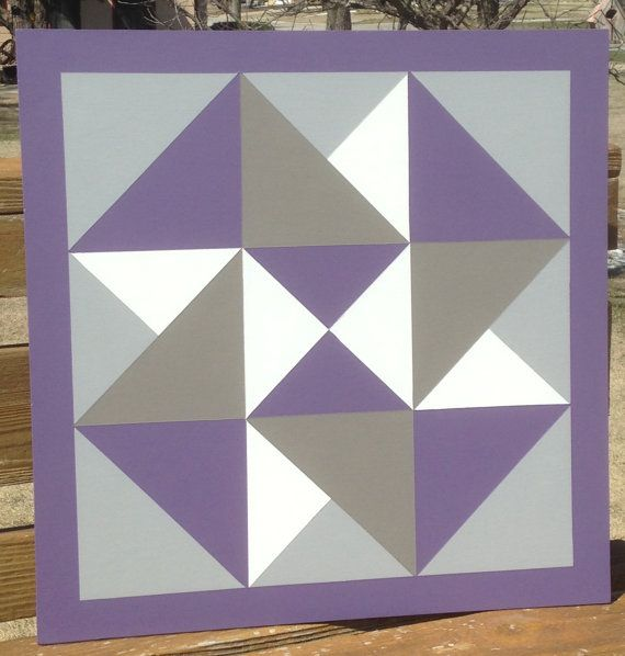 This 2 ft. x 2 ft. Card Trick pattern barn quilt was hand painted on MDO plywood and finished with 3-4 coats of exterior primer to protect from the elements. It is a perfect addition to your barn, garage, front porch or garden fence! No hanging hardware included. Made and shipped from Kansas.  Thank you for your interest in our shop! Please check us out on Facebook for even more current designs and design ideas.  www.facebook.com/frontporchtreasures/