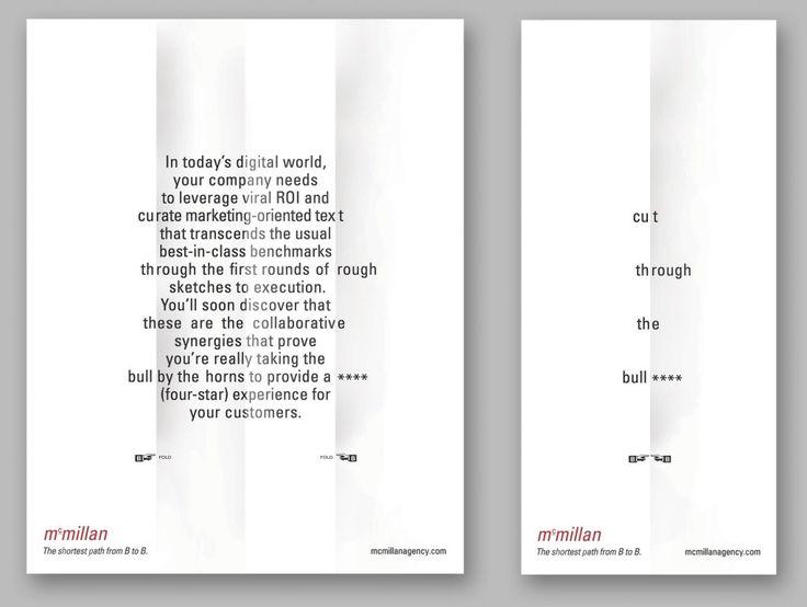 Cut through the bull**** (four stars). PR Agency Self-promotion