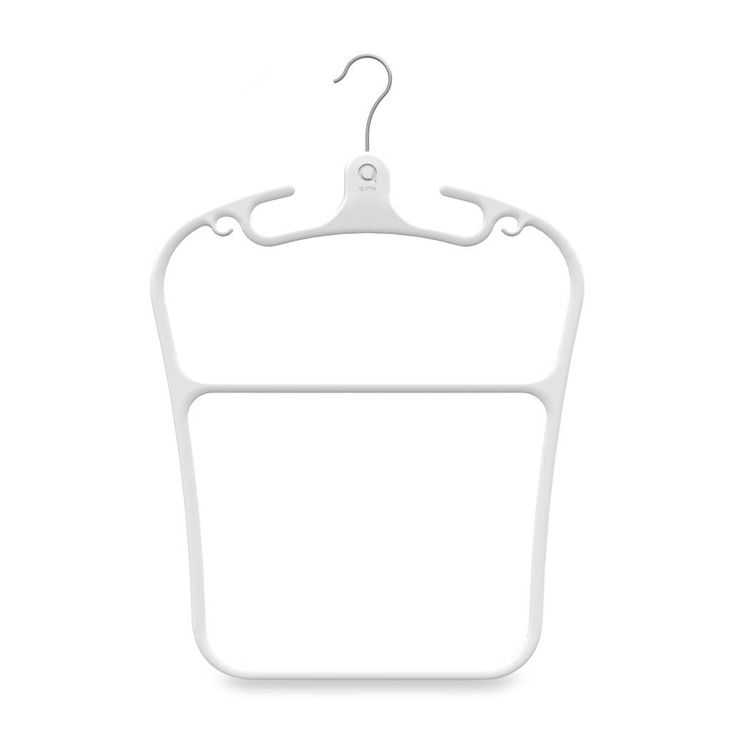 Product Image for Quirky® Contour Plastic Hanger in White 1 out of 4