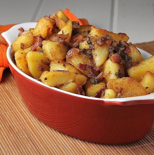 I loved this when we lived in Germany and I never knew how to make it so this is a recipe that I must try - Fried German Potato Salad