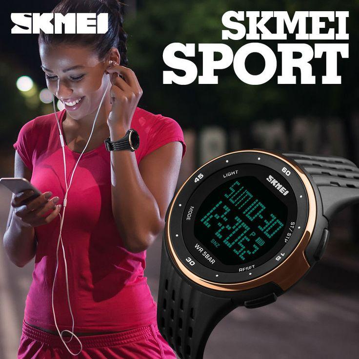 SKMEI 1219 Цифровые Наручные часы Мужские Открытый спортивные часы хронограф Мода часы PU Band Водонепроницаемый Relogio часы Мужчина для