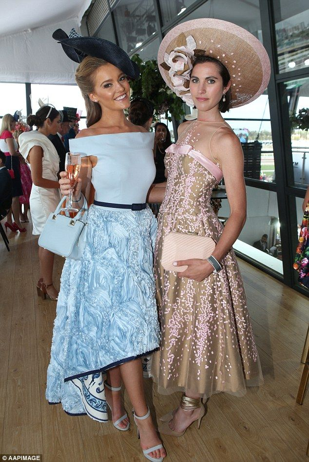Racegoers show off their fashions during the 2015 Melbourne Cup at Flemington