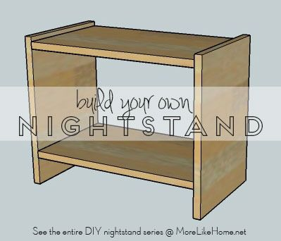 build your own nightstand with 18 free plans this super easy super cheap plan is for a simple. Black Bedroom Furniture Sets. Home Design Ideas