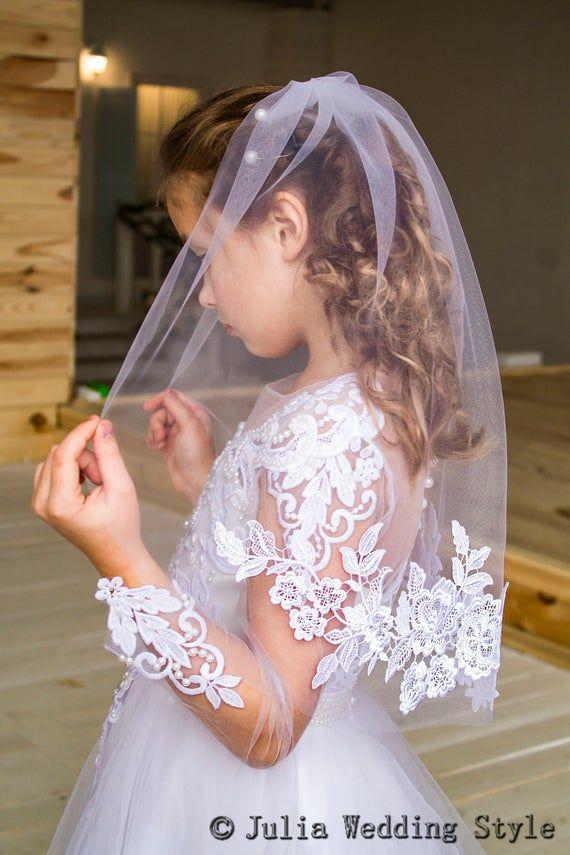 communion wedding First Holy Communion bow hair clip flower girl bow flower girl white bow