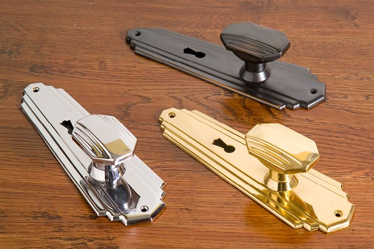 Art Deco Knob Lock Set | Also avail. in Latch & Privacy Set | Buy at Schots in Melbourne & Geelong, Australia