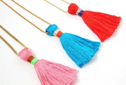 Tassel necklaces DIY