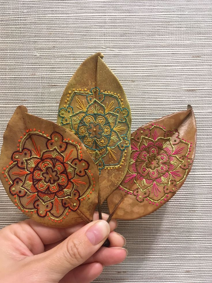 Best embroidery leaves images on pinterest