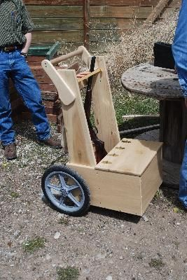 """""""This is a great product that I learned about from others active in Cowboy Action Shooting. I've used the wheels for 2 years now on my range cart. Cowboy action shooting is the fastest growing shooting sport nationally and internationally. It involves hauling rifles, shotguns and ammunition over rough ground that can be sandy, muddy, dirt or gravel and most shooters build their own carts for that purpose."""" -JacksonHoleGunsmoke from Wyoming"""