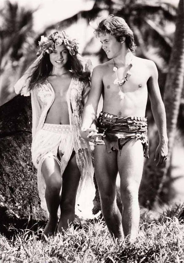 Milla Jovovich & Brian Crause (Return to the Blue Lagoon 1991) William H. Graham. Photo Columbia Pictures.