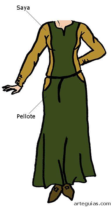 La saya y el pellote fueron muy usados en la época románica