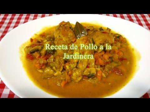 Pollo a la Jardinera receta paso a paso - YouTube