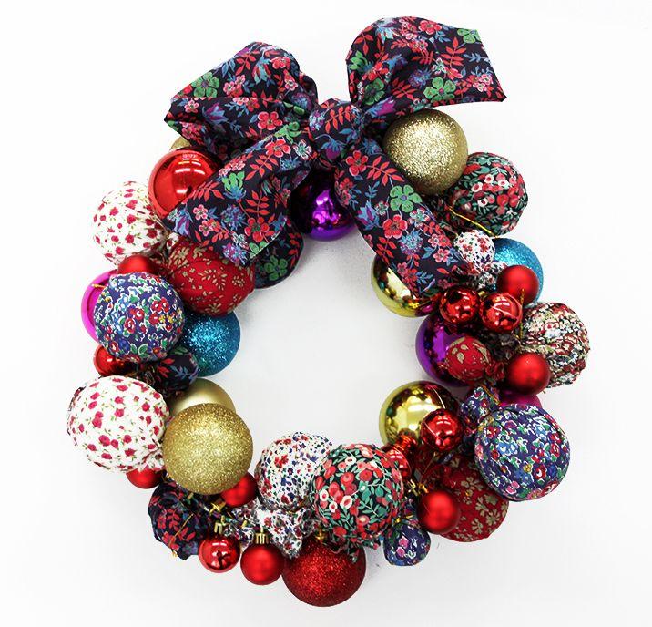 Learn how to make your own Liberty print Christmas wreath - Liberty London Blog » The Liberty Craft Blog