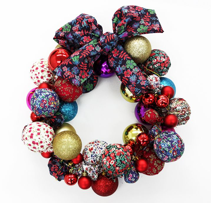 Learn how to make your own Liberty print Christmas wreath - Liberty London Blog » The Liberty Craft Blog
