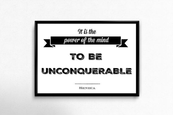 PRINTABLE ART  Seneca Quote: It is the power of the