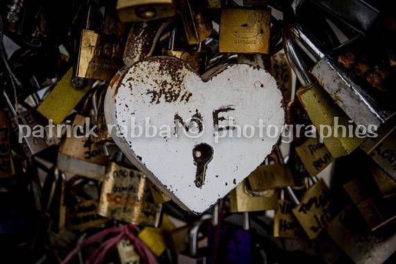 Paris Locks Photo Heart ME Fine Art Photography Paris Romantic