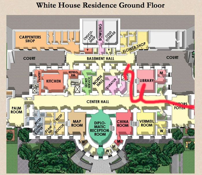 cote de texas impressive a map of the white house would be