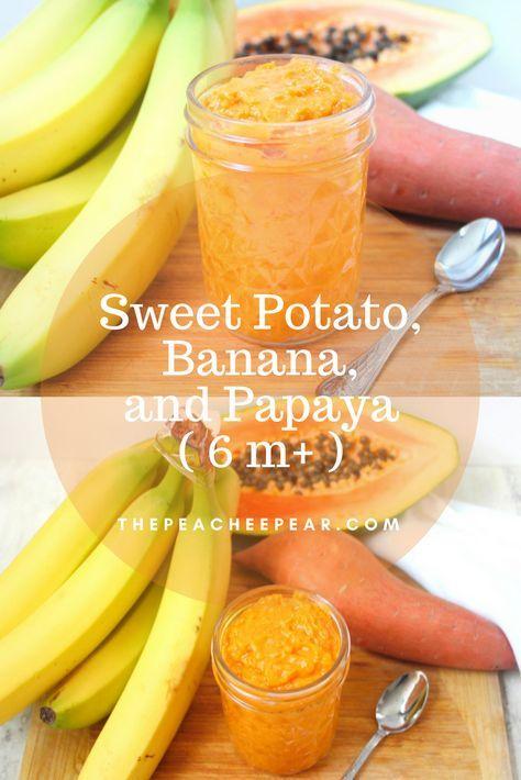 Süßkartoffel, Banane und Papaya (ab 6 m)   – Baby Purées