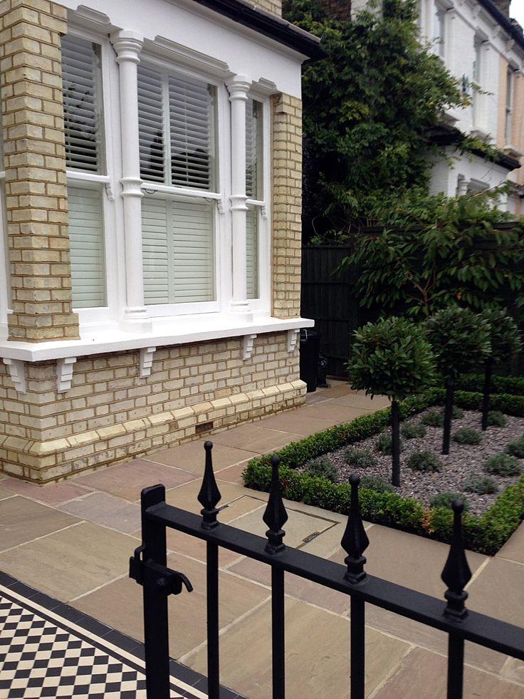 balham classical victorian front garden mosaic tile path london (8)
