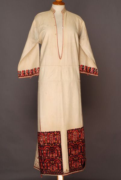 Greece, Macedonia, Imathia, vizano kousouli festive tunic, wool emboidered cotton, End of 19th century - beginning of 20th century