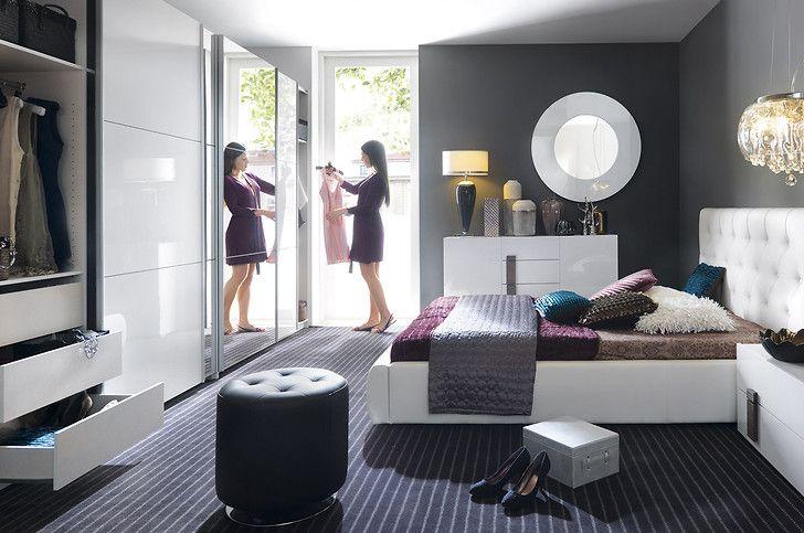 White high gloss Bedroom set DOMENICA