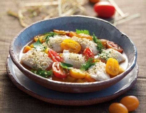 Fisch-Eintopf mit Paradeisern, Hanfsamen und Petersilie Rezept