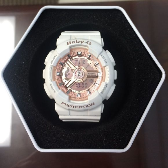 White baby G Shock watch Cute Pink and White G Shock Watch G-Shock Accessories Watches