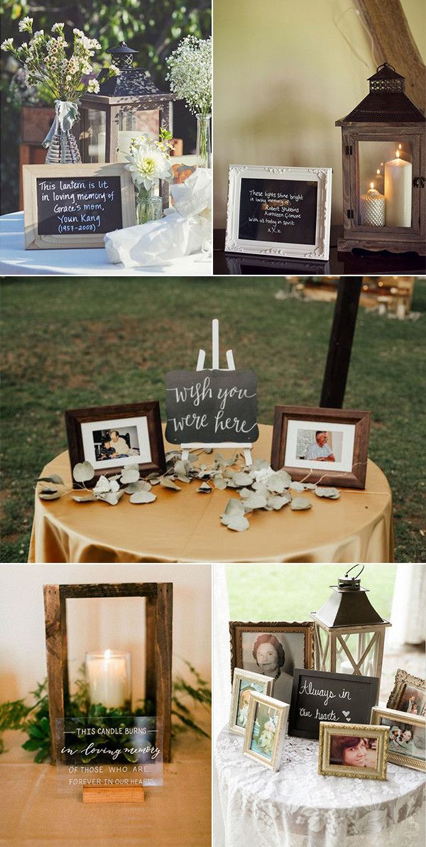 15 Wedding Memorial Table Decoration Ideas For Those Who Are Forever In Our Hearts Emmalovesweddings Memory Table Wedding Wedding Memorial Unique Wedding Colors