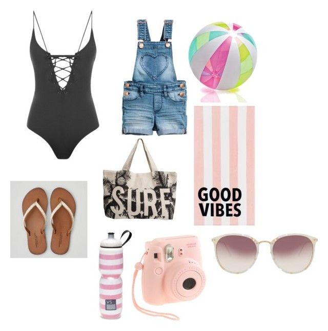 """""""Untitled #348"""" by leslyhoran143 on Polyvore featuring American Eagle Outfitters, Rip Curl, PBteen, Victoria's Secret, J.Crew, Linda Farrow and Tavik"""