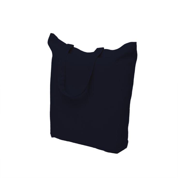 black cotton bag with short handle