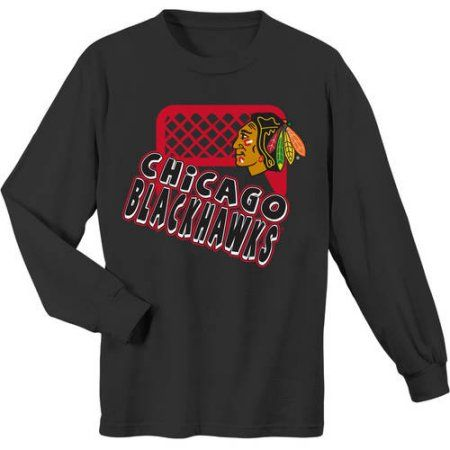 NHL Chicago Blackhawks Alternate Color Long Sleeve Tee, Black