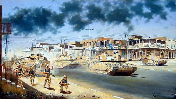 7th Army Brigade Entrance into Basra, Iraq